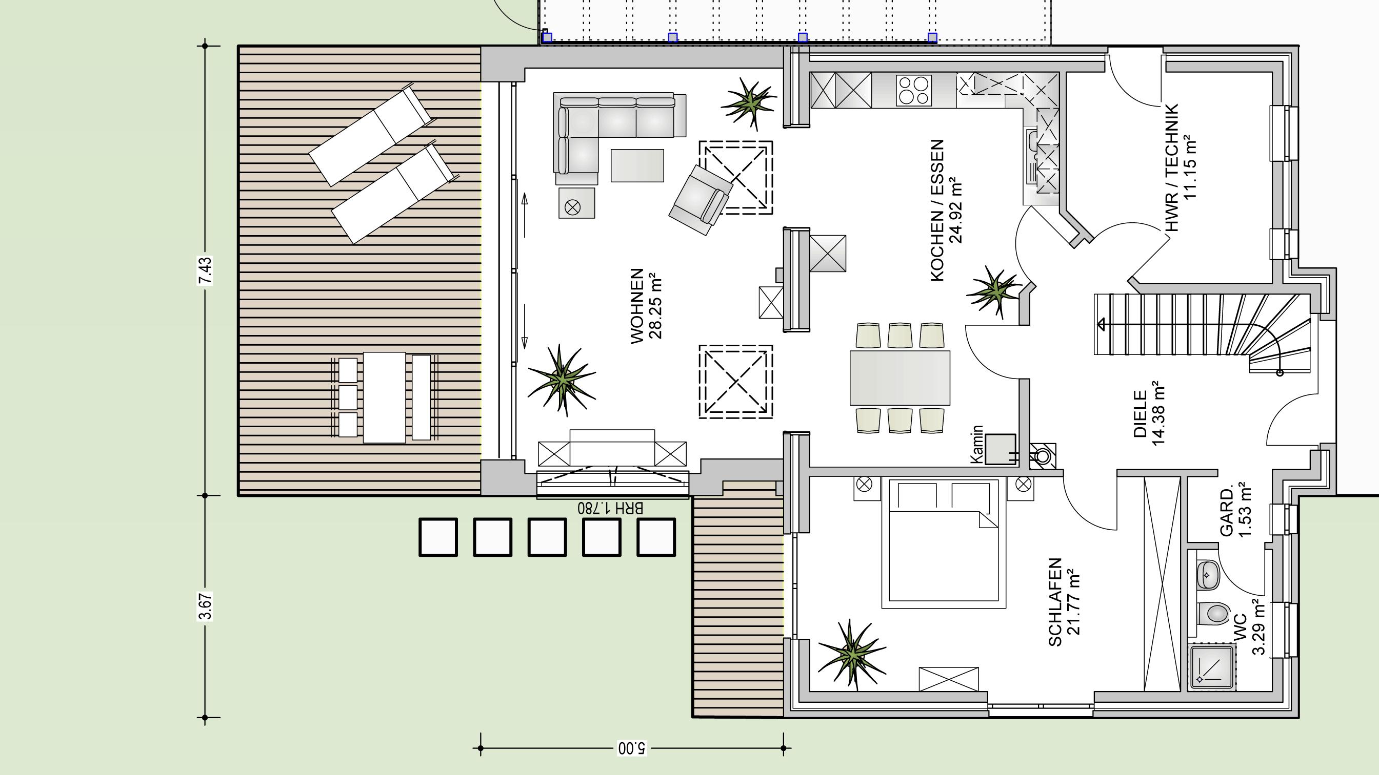Moderner anbau in radbruch bei l neburg hochplan for Anbau haus modern