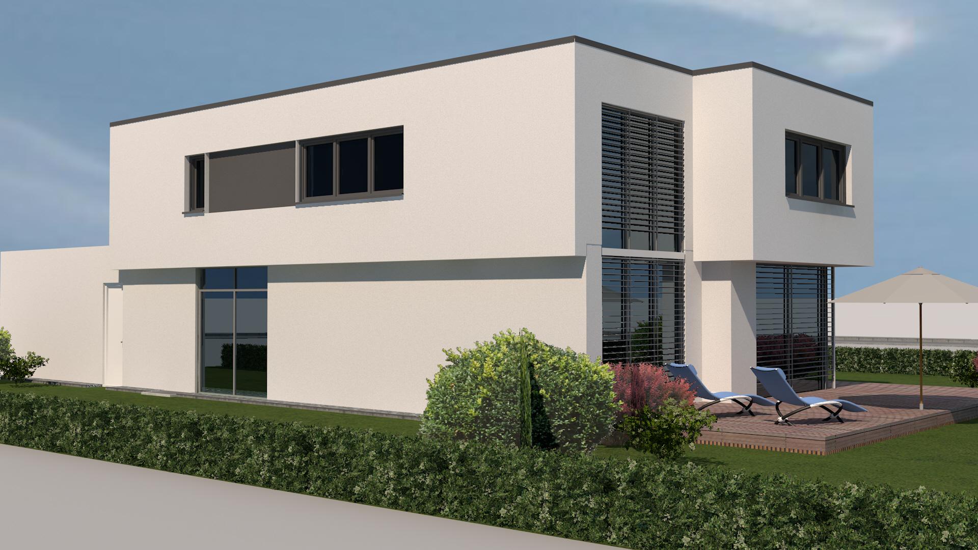 Verschiedene Flachdachhaus Beste Wahl Modernes Neubau